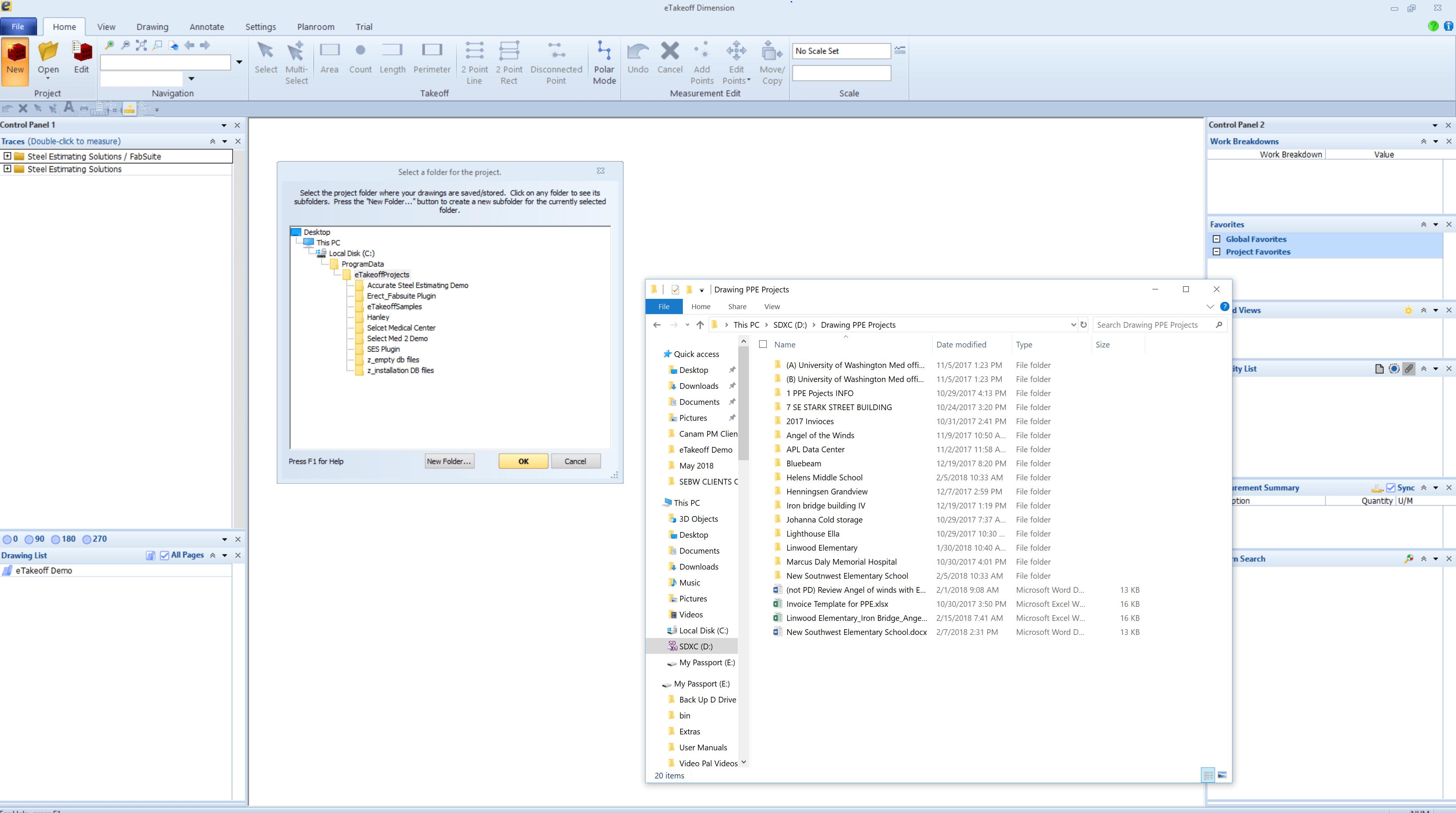 Steel Erection Digital Takeoff ~ Set Up Of Project Folders & Uploading Plans
