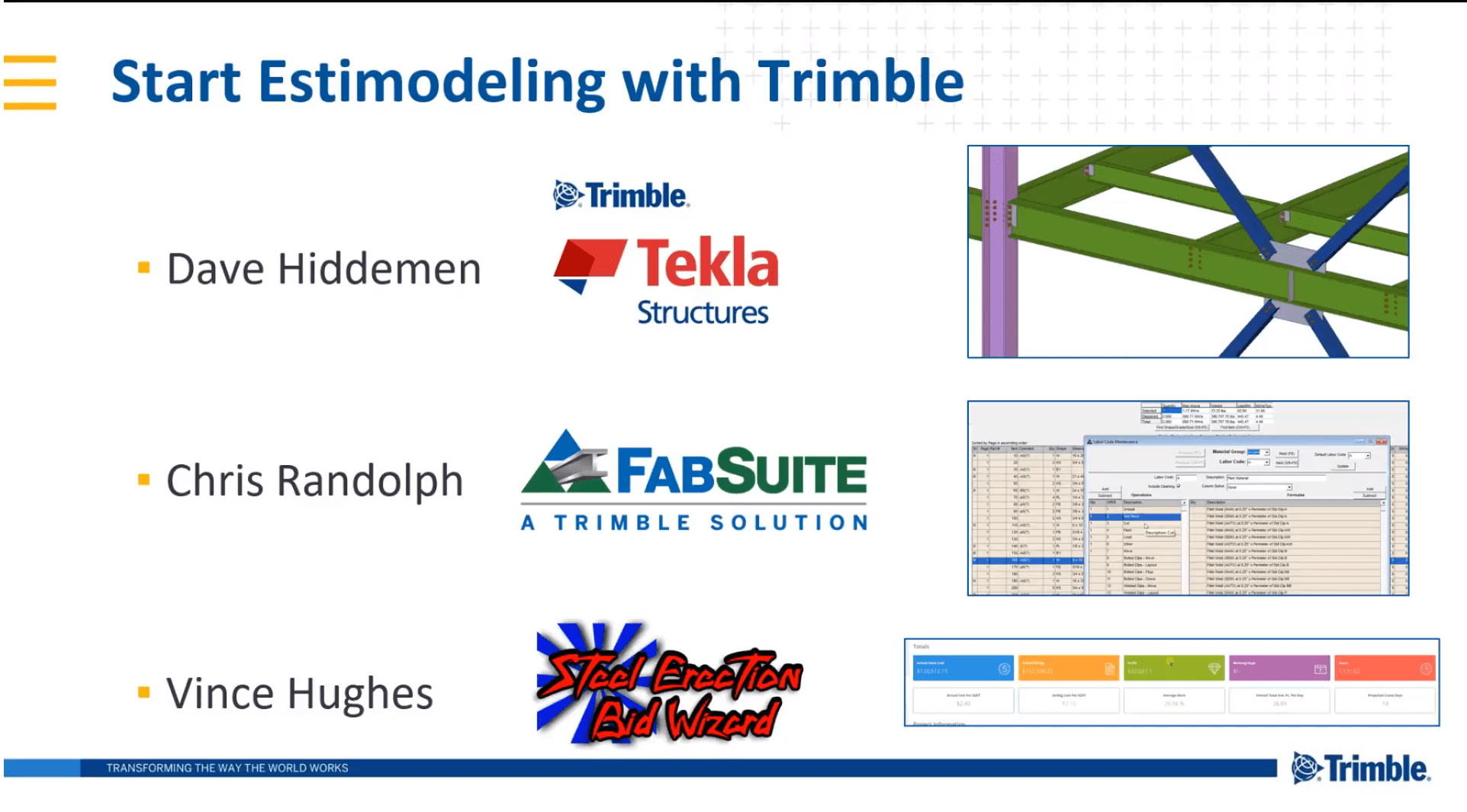 Estimodeling with Tekla Structures, FabSuite & Steel Erection Bid Wizard